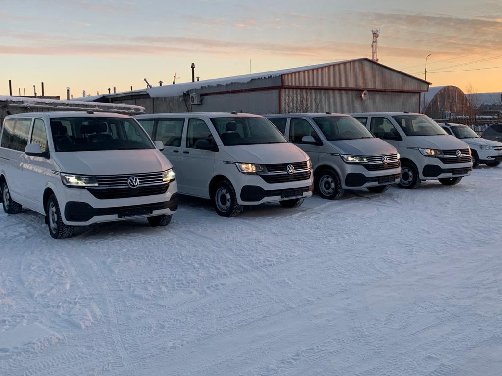 Недавно мы закупили 4 новых полноприводных Volkswagen Сaravelle